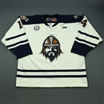 Kwiet, Rob<br>White Set 1<br>Greenville Road Warriors 2012-13<br>#14 Size: 56
