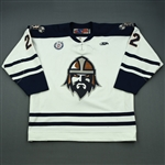 Marcou, Mike<br>White Set 1<br>Greenville Road Warriors 2012-13<br>#22 Size: 56