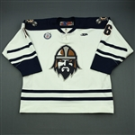 Piche, Sebastien<br>White Set 1<br>Greenville Road Warriors 2012-13<br>#16 Size: 56