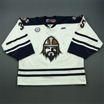 Stajcer, Scott<br>White Set 1<br>Greenville Road Warriors 2012-13<br>#35 Size: 58G