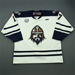 Vallerand, Marc-Olivier<br>White Set 1<br>Greenville Road Warriors 2012-13<br>#17 Size: 54