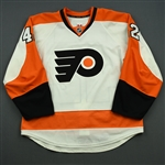 Akeson, Jason<br>White Set 1<br>Philadelphia Flyers 2014-15<br>#42 Size: 56