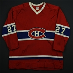 Chartraw, Rick * <br>Red<br>Montreal Canadiens 1976-77<br>#27 Size: 48 + 1