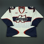 Armstrong, John<br>White Set 1<br>Kalamazoo Wings 2012-13<br>#9 Size: 56