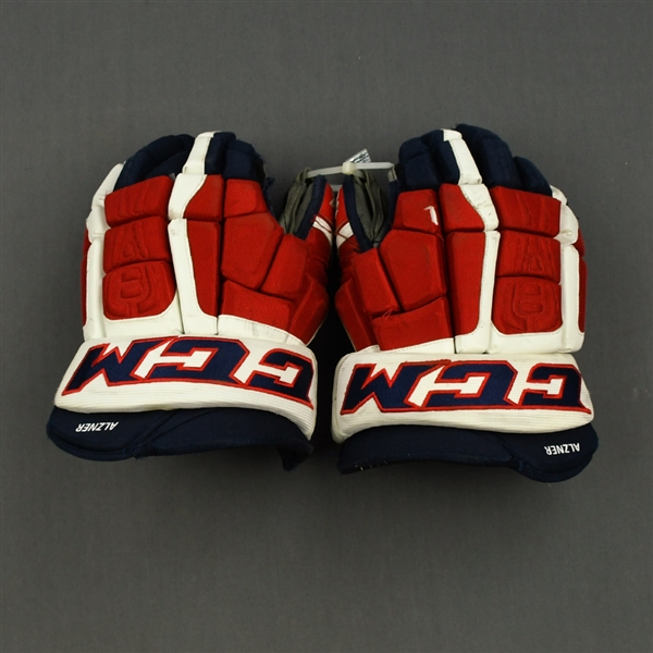 Alzner, Karl<br>CCM Gloves<br>Washington Capitals 2014-15<br>#27
