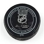 Columbus Blue Jackets Game-Used Puck<br>December 27, 2014 vs. Boston Bruins (Blue Jackets Logo)<br>Columbus Blue Jackets 2014-15