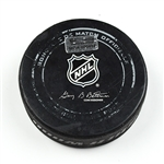 Columbus Blue Jackets Game-Used Puck<br>December 18, 2014 vs. Washington Capitals (Blue Jackets Logo)<br>Columbus Blue Jackets 2014-15