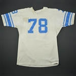 English, Doug (Name on Back Removed) * <br>White<br>Detroit Lions 1977-79<br>#78 Size: 52