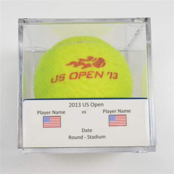 Abigail Spears & Santiago Gonzales vs. Andrea Hlav<br>Match-Used Ball - Finals - Louis Armstrong Stadium<br>US Open Mixed  Doubles 2013<br>#9/6/2013