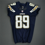 Green, Ladarius<br>Navy - worn November 2, 2014 vs. Miami Dolphins<br>San Diego Chargers 2014<br>#89 Size: 44 SKILL
