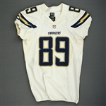 Green, Ladarius<br>White - worn October 23, 2014 vs. Denver Broncos<br>San Diego Chargers 2014<br>#89 Size: 44 SKILL