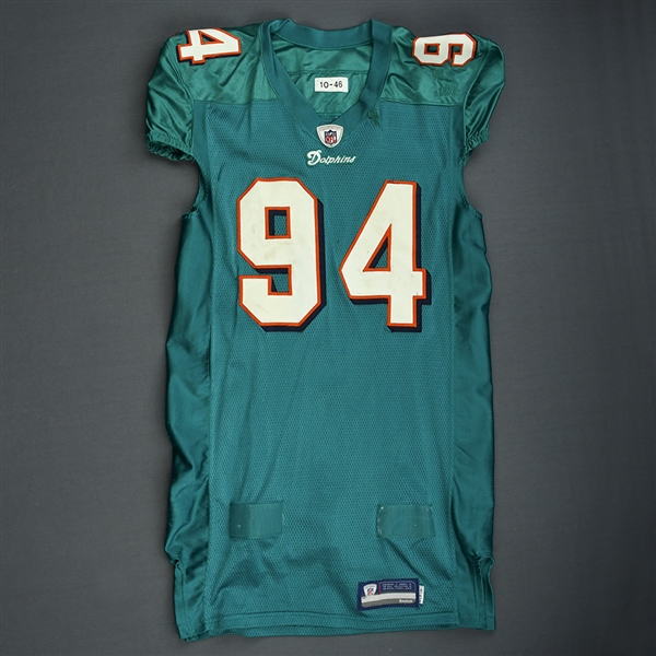 Starks, Randy * <br>Aqua, Video-Matched<br>Miami Dolphins 2011<br>#94 Size: 46
