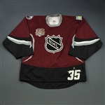 Salo, Tommy * <br>Burgundy, Autographed<br>NHL All Star 2001-02<br>#35 Size: 58G
