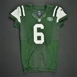 Sanchez, Mark * <br>Green - worn October 8, 2012 vs. Houston - Photo-Matched<br>New York Jets 2012<br>#6 Size: 44 SKILL