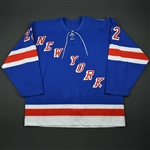 Kloucek, Tomas *<br>Blue NEW YORK Game-Issued, with 9/11 Ribbon<br>New York Rangers 2001-02<br>#22 Size:58