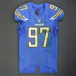 Attaochu, Jerry<br>Powder Blue - worn December 7, 2014 vs. New England Patriots<br>San Diego Chargers 2014<br>#97 Size: 44 L-BK