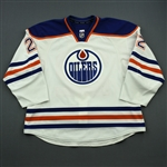 Aulie, Keith<br>White Set 1<br>Edmonton Oilers 2014-15<br>#22 Size: 58+