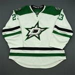 Connauton, Kevin * <br>White Set 1 - First NHL Goal and First NHL Assist - Photo-Matched<br>Dallas Stars 2013-14<br>#23 Size: 58