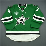 Nichushkin, Valeri * <br>Green - Mike Modano Night 3/8/14 (Period 2)<br>Dallas Stars 2013-14<br>#43 Size: 58
