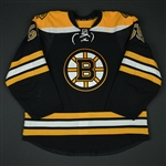 Acciari, Noel<br>Black Set 1<br>Boston Bruins 2016-17<br>#55 Size: 56
