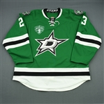 Connauton, Kevin * <br>Green - Mike Modano Night 3/8/14 (Period 2)<br>Dallas Stars 2013-14<br>#23 Size: 58