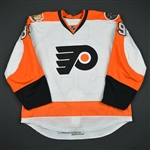 Alt, Mark<br>White Set 1 w/ 50th Anniversary & Ed Snider Patches - Preseason Only<br>Philadelphia Flyers 2016-17<br>#39 Size: 56