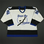 Chambers, Shawn * <br>White - Set 3<br>Tampa Bay Lightning 1993-94<br>#22 Size: 54