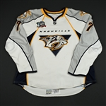 de Vries, Greg<br>White Set 2 / Playoffs (RBK 1.0)<br>Nashville Predators 2007-08<br>#7 Size: 56