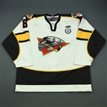 Bouchard, Francois<br>White Set 1<br>Cincinnati Cyclones 2012-13<br>#8 Size: 56