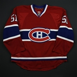 Desharnias, David *<br>Red Set 2 - Photo-Matched<br>Montreal Canadiens 2013-14<br>#51 Size: 54