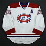 Gorges, Josh *<br>White Set 2 - w/A - Photo-Matched<br>Montreal Canadiens 2013-14<br>#26 Size: 54