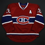 Gorges, Josh *<br>Red Set 2 - w/A - Photo-Matched<br>Montreal Canadiens 2013-14<br>#26 Size: 54