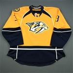 Jones, Seth *<br>Gold Set 1  - Photo-Matched - Rookie Season<br>Nashville Predators 2013-14<br>#3 Size: 58