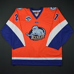 Webster, Michael<br>Gator Night - October 26, 2017 vs. Atlanta Gladiators <br>Jacksonville Icemen 2017-18<br>#27 Size: 56