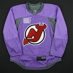 Blank - No Name or Number<br>Lavender Hockey Fights Cancer Warm-Up - CLEARANCE<br>New Jersey Devils <br> Size: 52