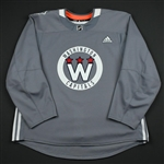 adidas<br>Gray - Stadium Series Practice Jersey - Game-Issued (GI)<br>Washington Capitals 2017-18<br> Size: 58
