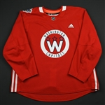 adidas<br>Red - Stadium Series Practice Jersey - Game-Issued (GI)<br>Washington Capitals 2017-18<br> Size: 58