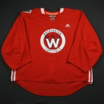 adidas<br>Red - Stadium Series Practice Jersey - Game-Issued (GI)<br>Washington Capitals 2017-18<br> Size: 60G