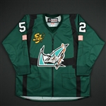 "Bollig, Brandon *<br>Specialty ""Fighter Pilot"" Jersey - Autographed<br>San Jose Barracuda 2017-18<br>#52 Size: 58"