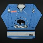 Accursi, Taylor<br>Blue Set 1<br>Buffalo Beauts 2017-18<br>#95 Size: LG