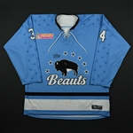 DiTondo, Julia<br>Blue Set 1<br>Buffalo Beauts 2017-18<br>#34 Size: XL