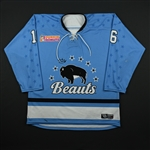 Elia, Maddie<br>Blue Set 1<br>Buffalo Beauts 2017-18<br>#16 Size: LG