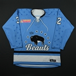 Jones, Jess<br>Blue Set 1<br>Buffalo Beauts 2017-18<br>#32 Size: MD