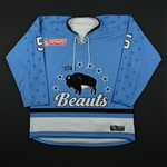 Shureb, Sarah<br>Blue Set 1<br>Buffalo Beauts 2017-18<br>#5 Size: MD