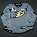 Maroon, Patrick *<br>Practice - Gray w/Pacific Premier Bank Patch - CLEARANCE<br>Anaheim Ducks 2011-16<br>#19 Size: 58