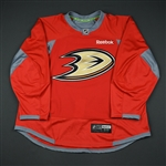 Smith-Pelley, Devante *<br>Practice - Red w/Pacific Premier Bank Patch - CLEARANCE<br>Anaheim Ducks 2011-15<br>#12 Size: 58