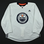 adidas<br>White Practice Jersey <br>Edmonton Oilers 2017-18<br> Size: 58