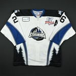 Friesen, Dustin *<br>White Kelly Cup Finals w/A - Game 1 & 2<br>Idaho Steelheads 2009-10<br>#26 Size: 56
