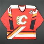 Fleury, Theo *<br>Red Set 2 w/A - Photo-Matched<br>Calgary Flames 1998-99<br>#14 Size: 52