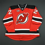 Asham, Arron *<br>Red w/Opening Night of Prudential Ctr Patch - Per.1<br>New Jersey Devils 2007-08<br>#22 Size: 58